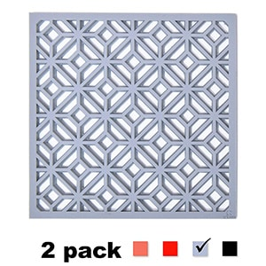 Gray Geometric Trivet to protect your counter or table from hot dishes or pots
