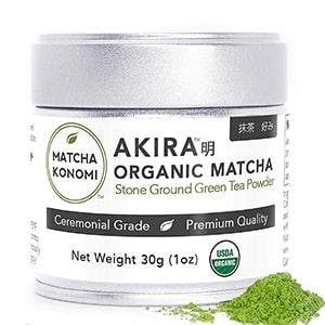 Akira Organic Ceremonial Grade Matcha Powder for Lattes
