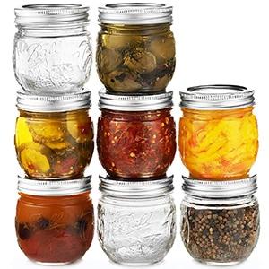 Medium mason jars I like to use for oats, sauces, etc