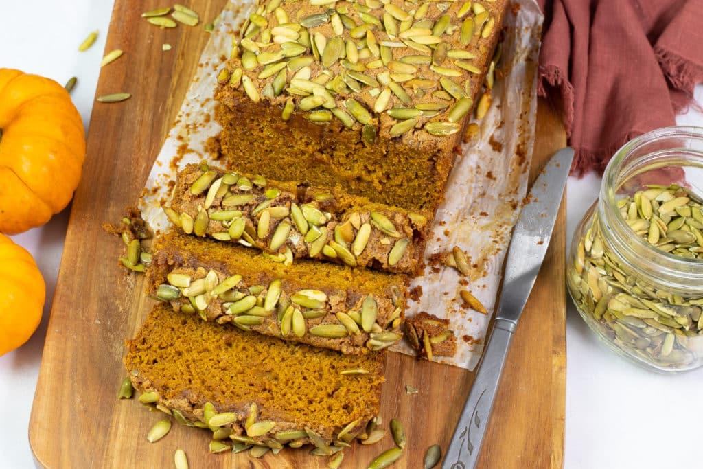 Sliced Vegan Gluten-free Pumpkin Bread