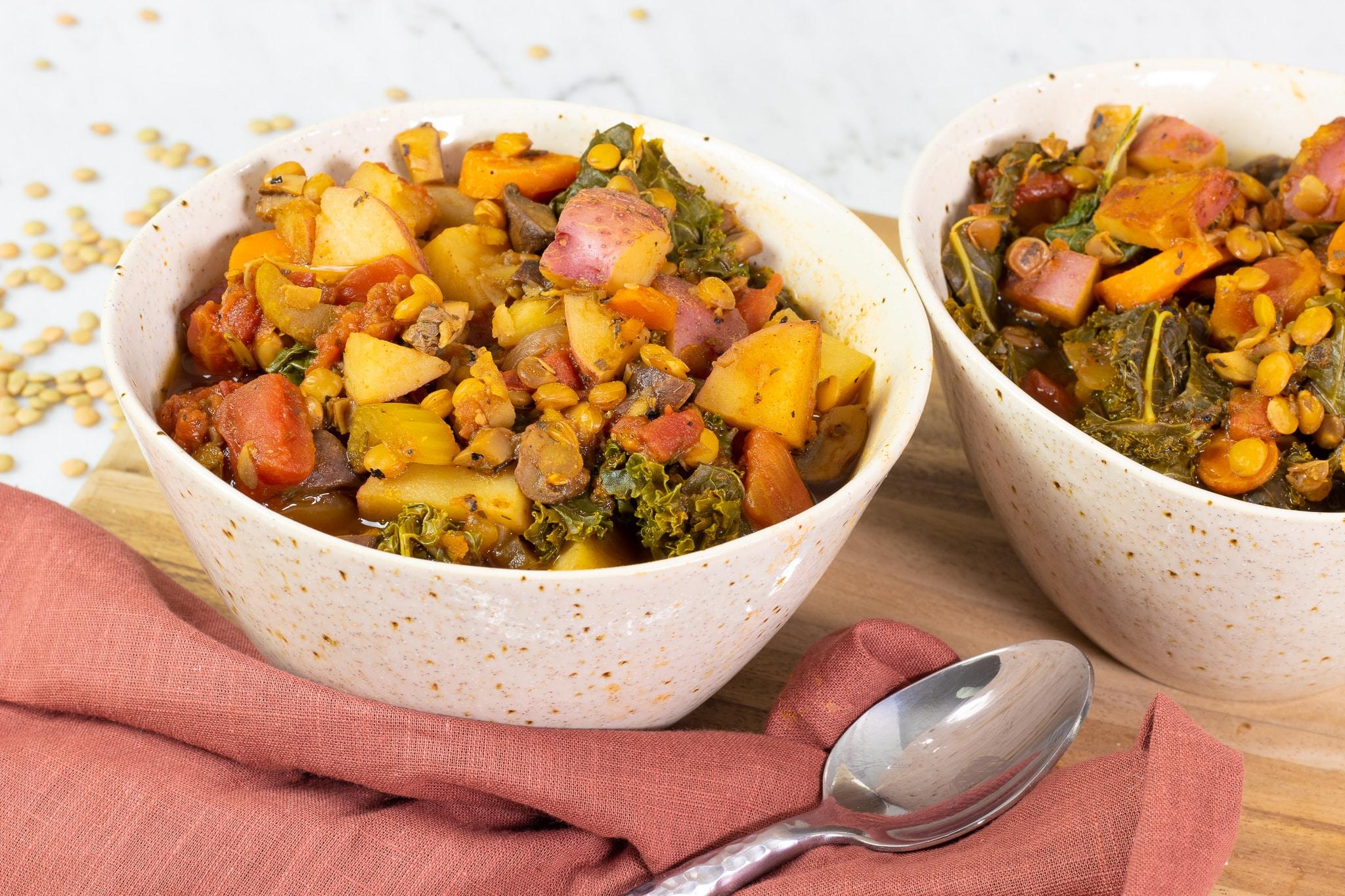 Hearty Lentil Vegetable Potato Stew