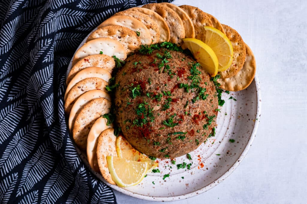 Vegan Pate on a plate
