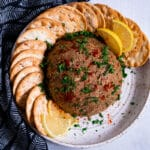 Vegan Pate on a plate