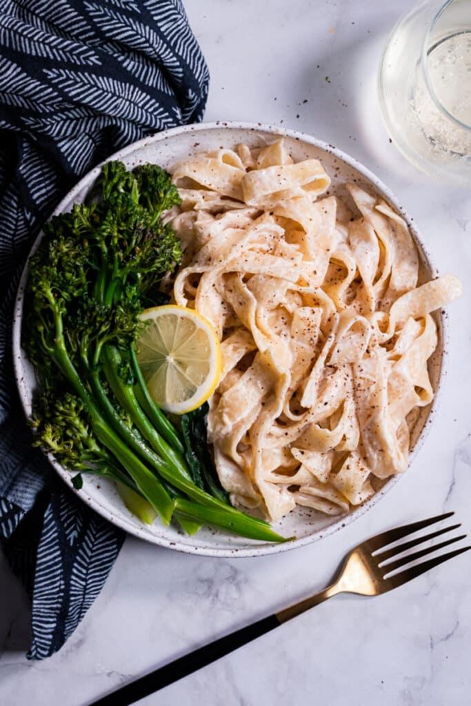 Tahini Pasta with Broccolini