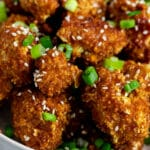 Vegan Gluten-free Teriyaki Cauliflower Wings piled in a bowl