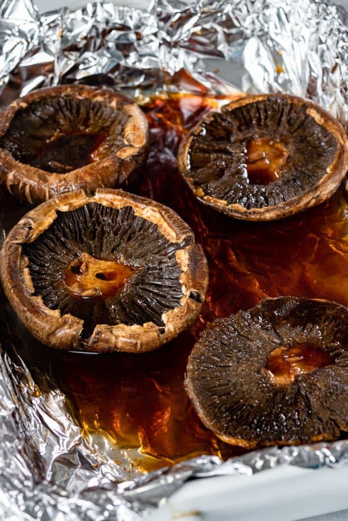 Cooked Portobello mushrooms