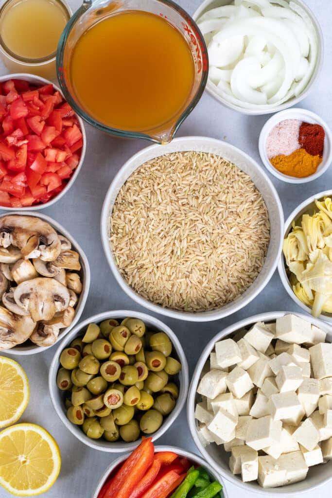 Ingredient in bowls