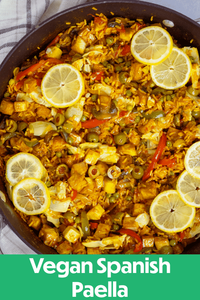 Pinterest image for the paella