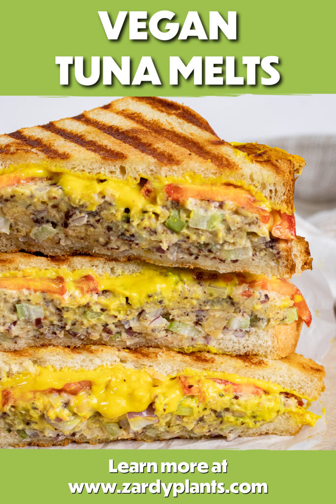 Pinterest image for the tuna melts