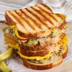 Stacked vegan tuna melts