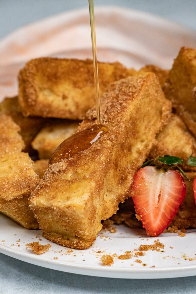 French toast sticks on a plate