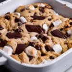 Baking tray with s'mores bake