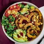 Bowl of delicata sqaush salad
