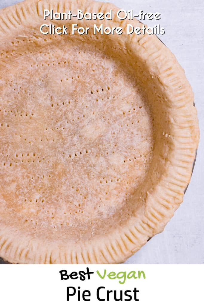 Pinterest image for oil free pie crust
