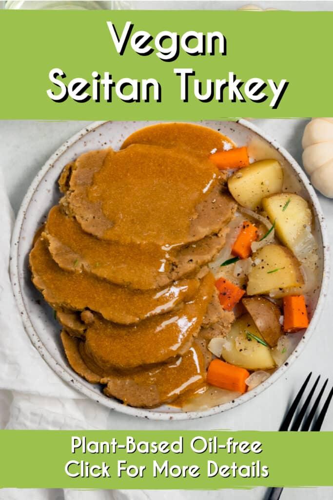 Pinterest Image for Seitan Turkey