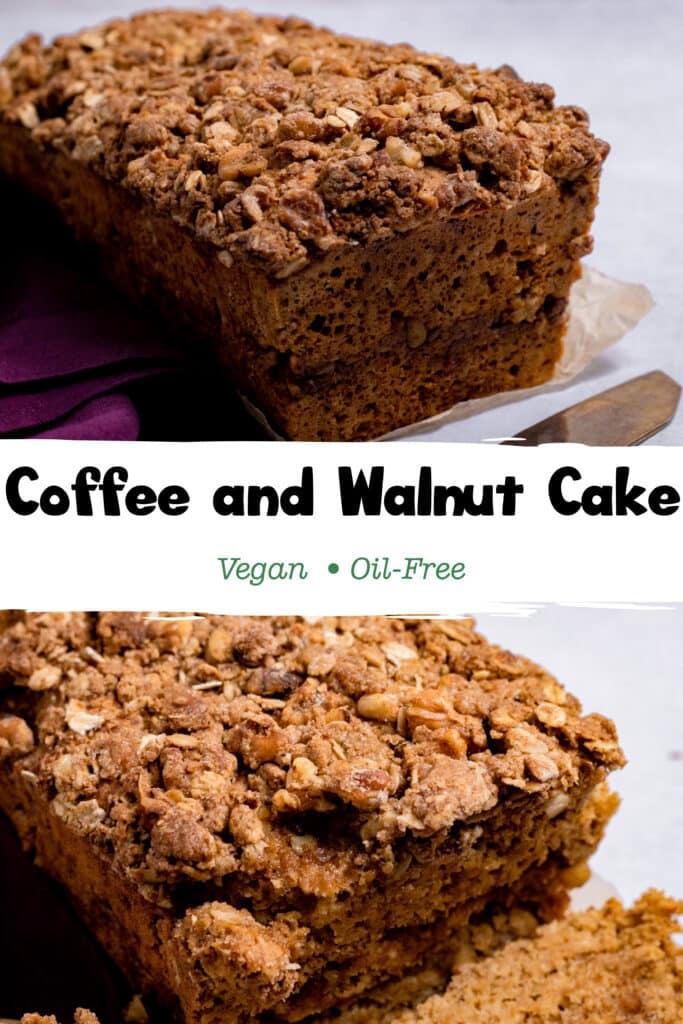 Pinterest Image for Vegan Coffee Cake