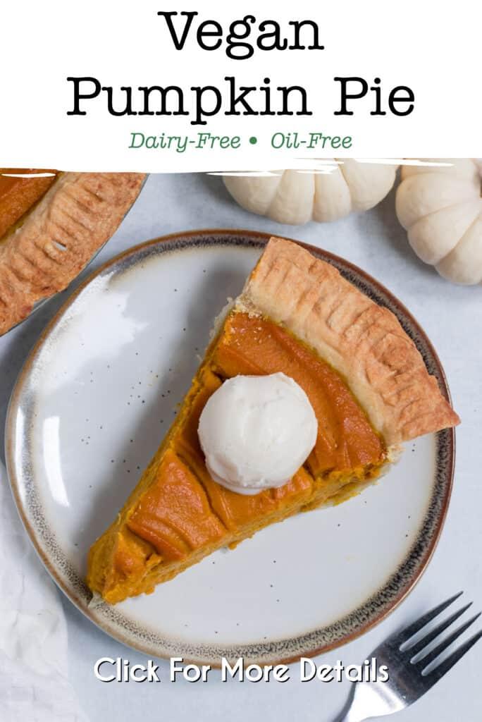 Pinterest image for vegan pumpkin pie