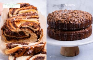 Sample page with large dessert images