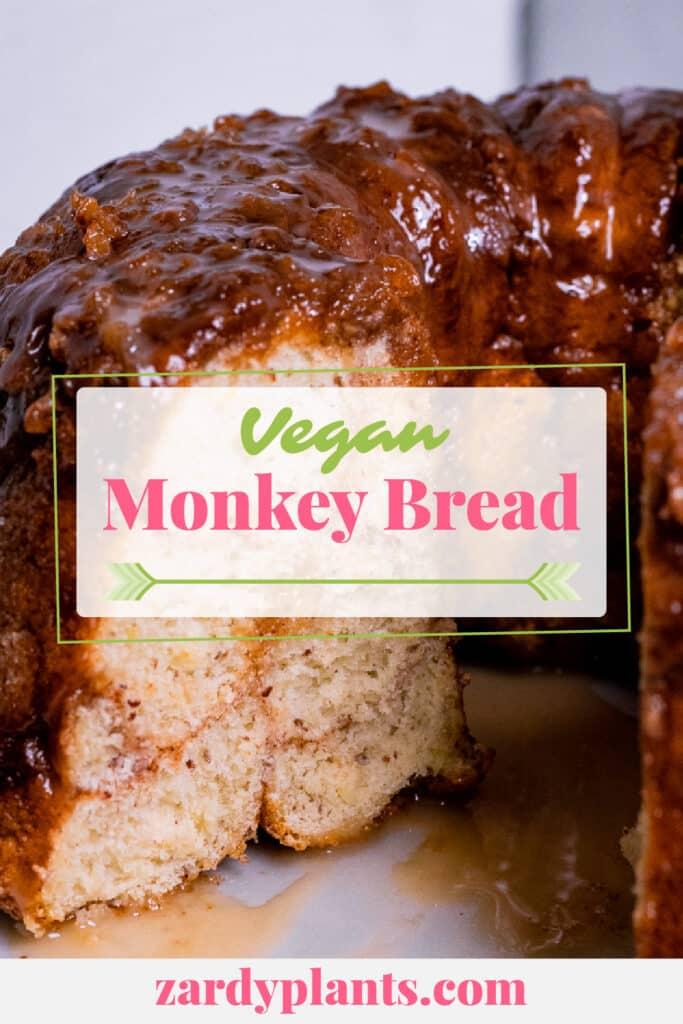 Pinterest image for the vegan monkey bread