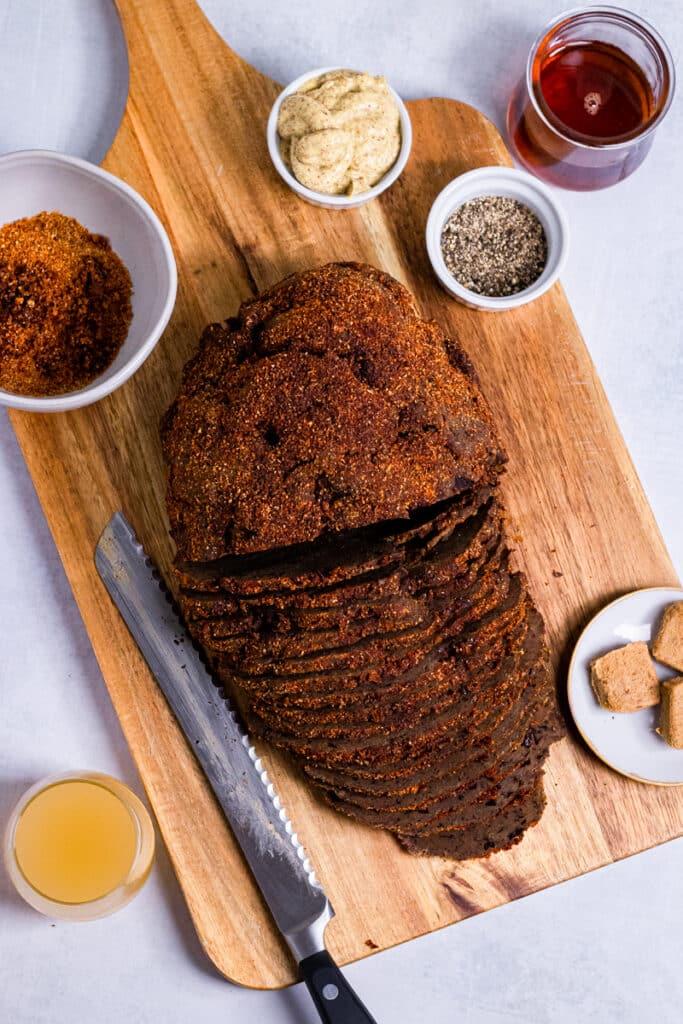 Ingredients for the vegan pastrami