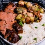 Vegan Seitan Ham on a plate
