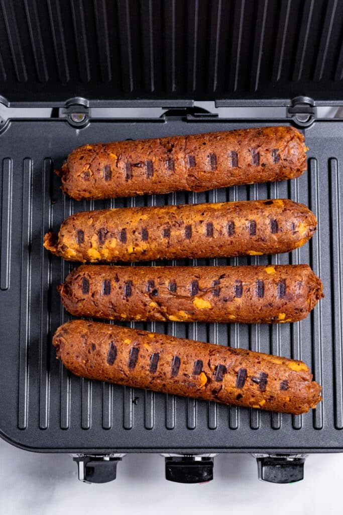 Vegan Sausages on a grill