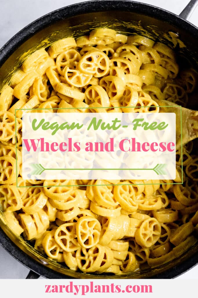 Pinterest image for the vegan mac and cheese