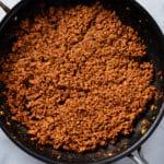 TVP Chorizo in a pan