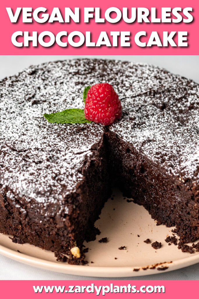 Pinterest image for the chocolate cake