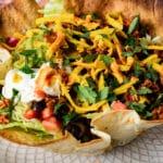 Taco salad on a plate