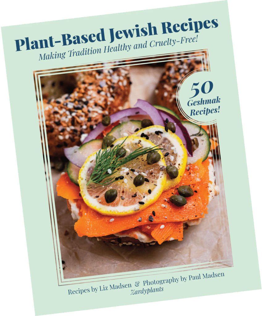 Book cover for Plant-Based Jewish Recipes