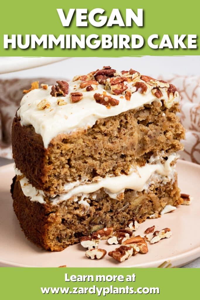 Pinterest image for the humming bird cake