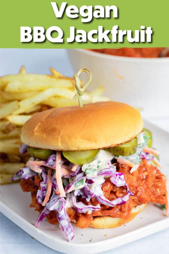 Pinterest image for the BBQ Jackfruit